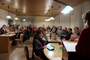 46 Genossen/innen folgten den Ausführungen der Berichterstatter