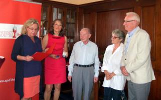 Geehrt für 60 Jahre Mitgliedschaft: Paul Maier, Heinrich Kaltenhäußer (vertreten durch Tochter Gerlind) und Peter Prokop