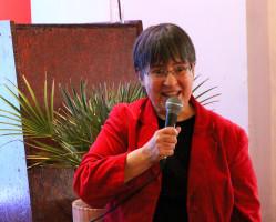 Die ASF-Vorsitzende Ursula Walther begrüßt die Gäste